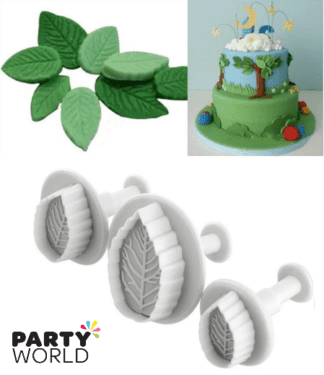 leaf plungers rose flower baking accessories