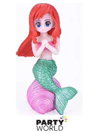 mermaid party cake topper figurine