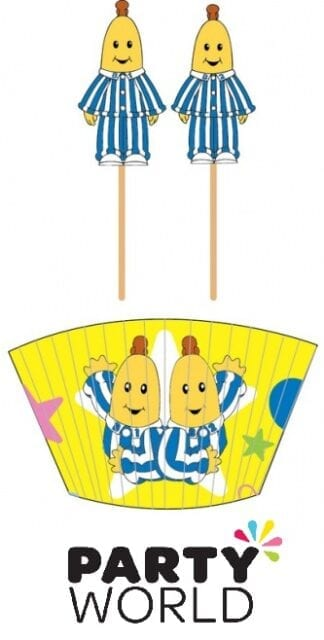 Bananas In Pyjamas Party Cupcake Cases And Picks (24)