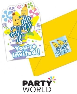 Bananas In Pyjamas Party Postcard Invitations (8)