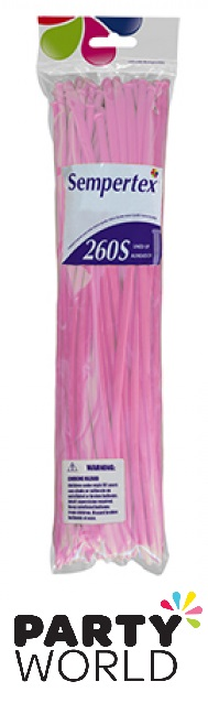 Sempertex 260S Fashion Pink Modelling Balloons (50)