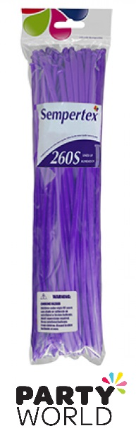 Sempertex 260S Fashion Violet Modelling Balloons (50)
