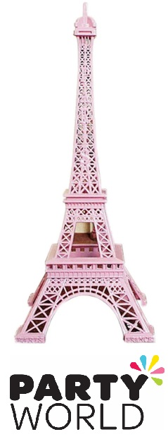 French Party Pink Metal Eiffel Tower 18cm