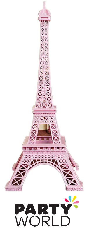 French Party Pink Metal Eiffel Tower 25cm