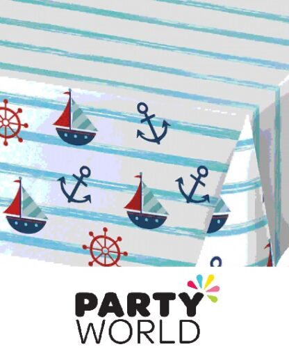 Nautical Baby Party Paper Tablecover