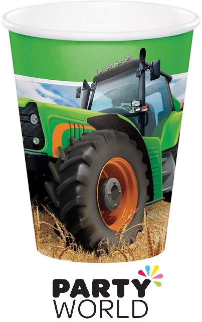 Tractor Time Party 9oz Paper Cups (8)